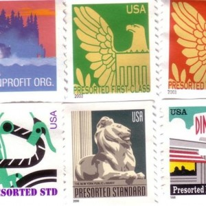 Американские безноминальные марки для некоммерческих организаций