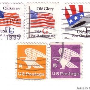 Американские литерные марки