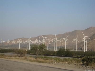 Аэрогенераторы хозяйства San Gorgonio Pass