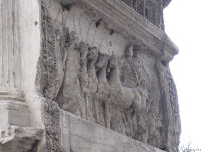 Император Тит, управляющий квадригой