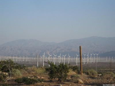 Шеренги ветряков