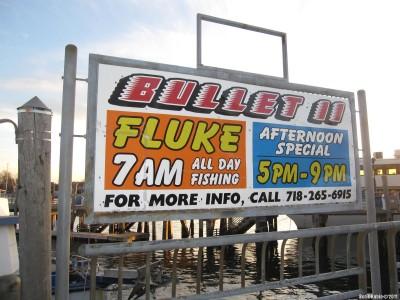 Реклама траулера «Bullet II», продающего камбалу