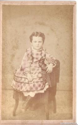Carte-de-Visite, портрет девочки.
