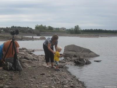 На берегу Ashokan Reservoir. Выпечка «блинов».