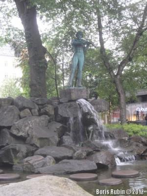 Памятник Оле Буллу в Бергене