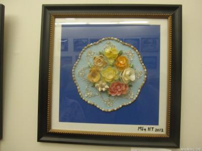 Цветы из мелких ракушек. Матвей Соловьев