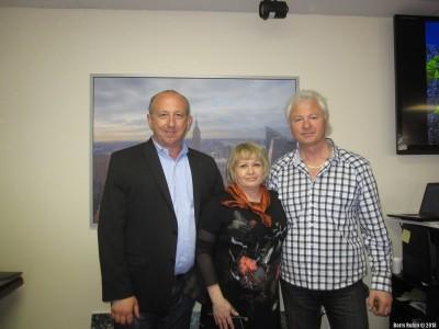 Слева направо: Александр Киселев, Галина Локтев и Евгений Одиноков