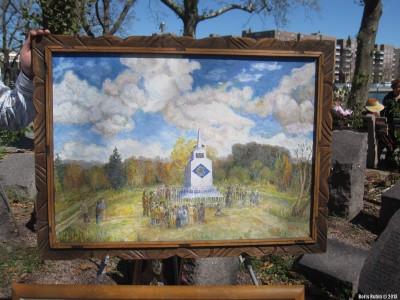 Памятник жертвам Холокоста у Поповецкого леса близ Староконстантинова