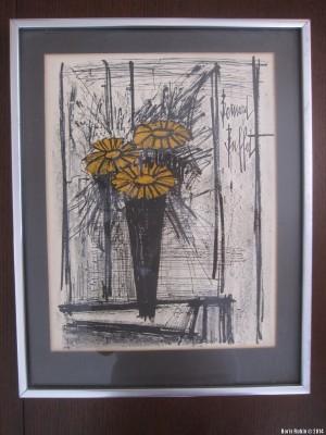 Литография Бернара Бюффе «Цветы»