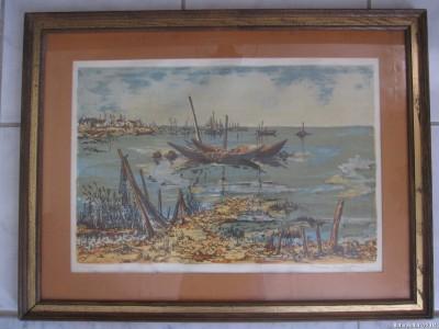 Морской пейзаж работы Мориса Бюффе