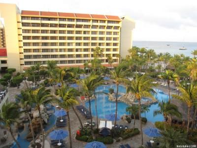 Вид из окна нашей комнаты в отеле Occidental Grand Aruba