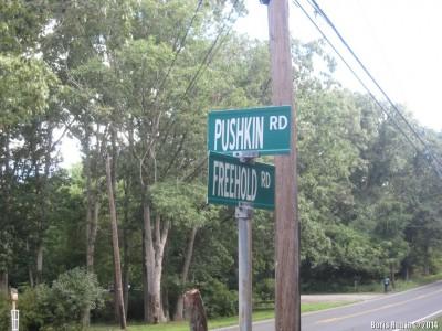 Перекресток Pushkin Rd и Freehold Rd в Нью-Джерси