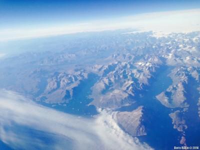 Гренландия из окна самолета