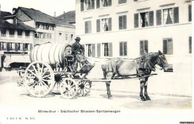 Пожарная повозка в швейцарском городе Винтертур