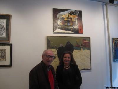 Михаил Звягин с американской любительницей искусства