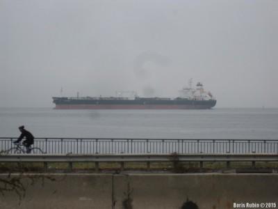 Корабль на нью-йоркском рейде