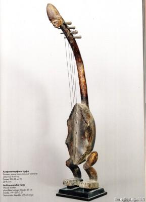 Антропоморфная арфа из ДР Конго XIX - XX век