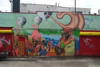 Граффити на углу Berry & Grand Streets