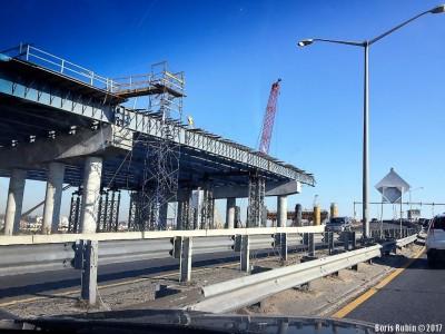 Строительство Mill Basin Bridge на Belt Parkway. Март 2017.
