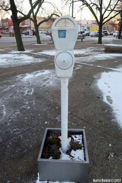 """Паркомат с диорамой """"Зима"""""""