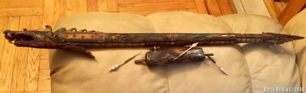 Японское духовое ружье из резной кости