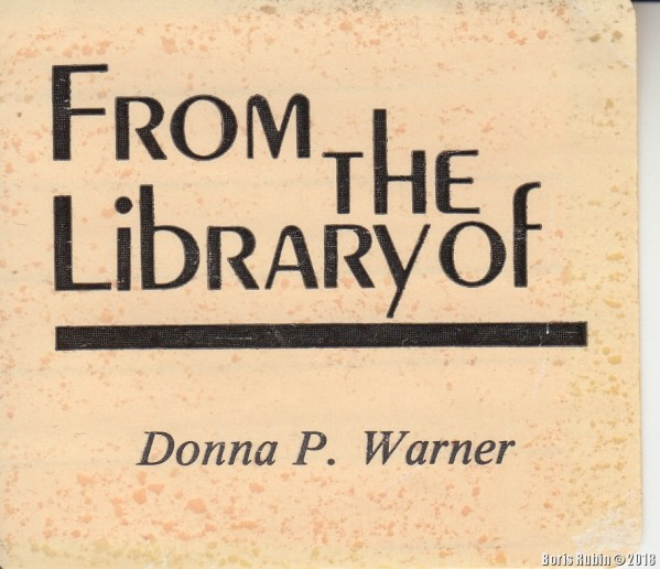 From the Library of Donna P. Warner