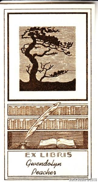 Ex Libris  Gwendolyn Peacher