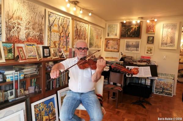 А.Риз играет на виоль д'амур