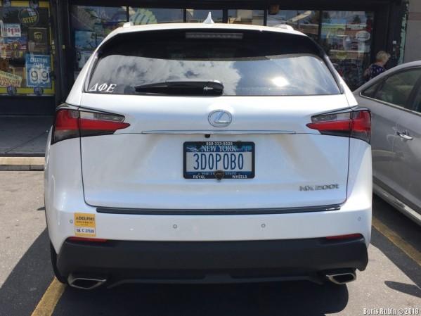 "Машина с номерным знаком ""3DOROVO"""