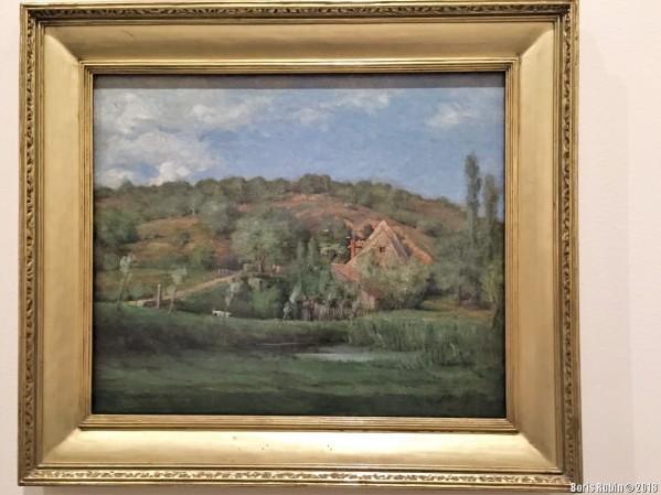 """Картина Уира """"Французская усадьба"""" в Бруклинском музее искусств"""