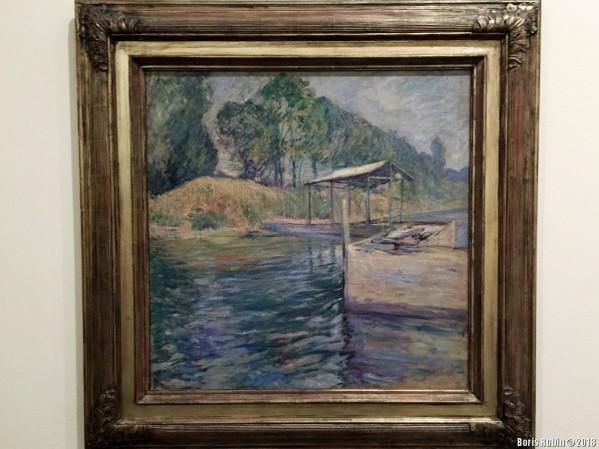 """Картина """"Отражение"""" Джона Твахтмана в Бруклинском музее искусств."""