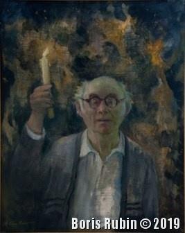 Автопортрет со свечой. Фото с Интернета.