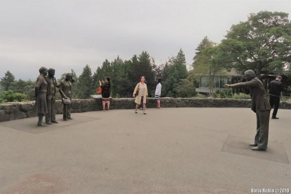 Скульптурная композиция «Туристы»