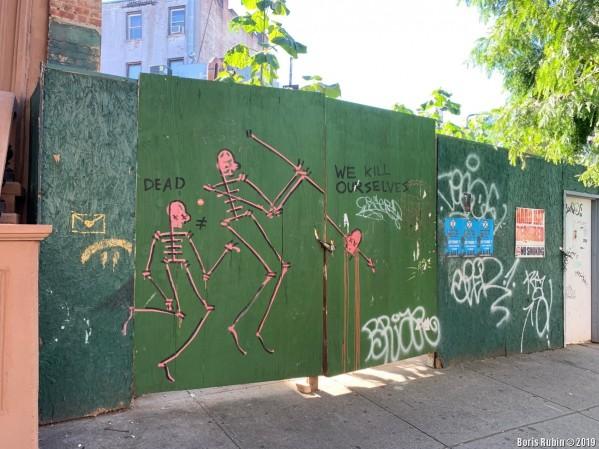 Граффити на Carlton Avenue