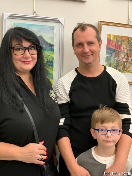 Александр Портнягин с женой и сыном