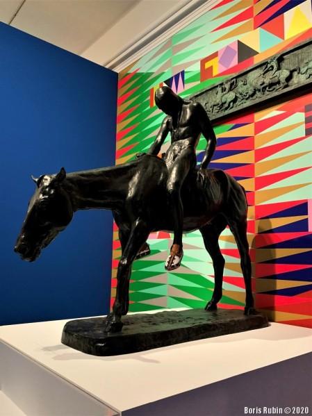 "Скульптура работы Чарльза Кэри Рамси ""Умирающий индеец"""