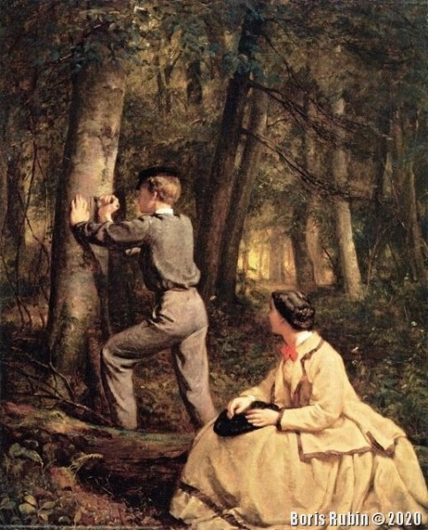 "George Cochran Lambdin ""In The Beech Wood"""