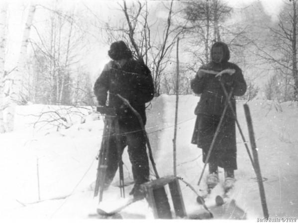 Геофизический отряд. Рудный Алтай, 1959