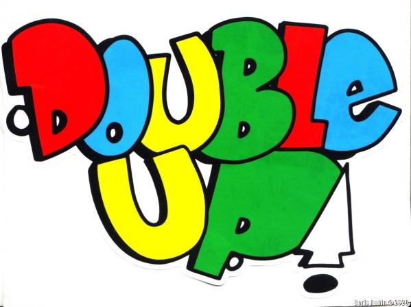 Наклейка с текстом из разноцветных букв