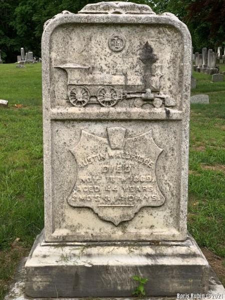 Надгробная плита на могиле Остина Уолбриджа